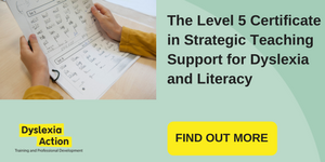 The Level 5 Certificate in Strategic Teaching Support for Dyslexia and Literacy