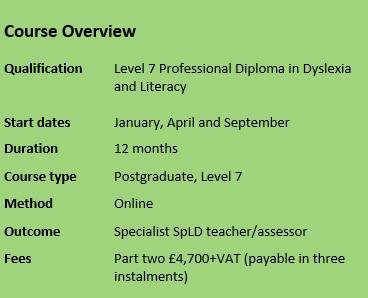 diploma in dyslexia